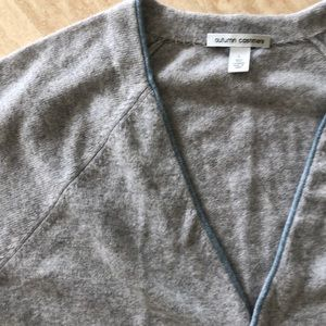 Autumn Cashmere Sweaters - Autumn Cashmere gray cardigan sweater L NWOT